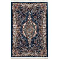 eCarpetGallery Persian Collection Tabriz Power-loomed Dark Blue/Multicolored Indoor Rectangular Rug - 6'7 x 9'10
