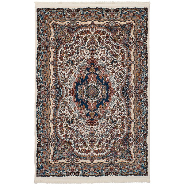 eCarpetGallery Persian Collection Ivory Power-loomed Isfahan Rug - 6'7 x 9'10