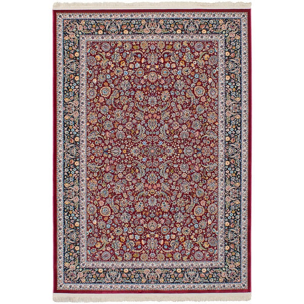 eCarpetGallery Persian Collection Nain Red Power-loomed Rug - 6'7 x 9'10