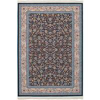 eCarpetGallery Persian Collection Nain Blue Power-loomed Rug (6'7 x 9'10) - 6' x 9'