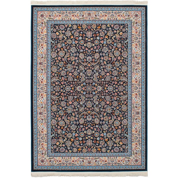 eCarpetGallery Persian Collection Nain Blue Power-loomed Rug - 6'7 x 9'10