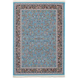 eCarpetGallery Persian Collection Nain Blue/Brown Area Rug (6'7 x 9'10)