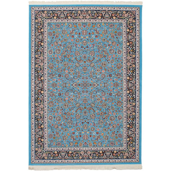eCarpetGallery Persian Collection Nain Blue/Brown Area Rug (6'7 x 9'10) - 6' x 9'