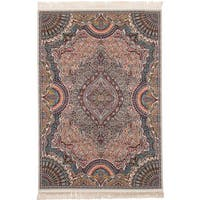 eCarpetGallery Power-loomed Persian Collection Isfahan Brown Rug - 4'11 x 7'5