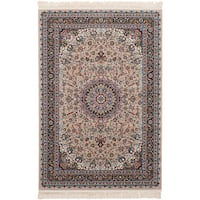 eCarpetGallery Persian Robot Woven Collection Tabriz Power-loomed Brown/Multicolored Indoor Rectangular Rug - 4'11 x 7'5