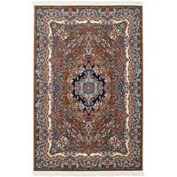 eCarpetGallery Persian Collection Isfahan Brown Power-loomed Rug - 4'11 x 7'5