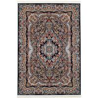 eCarpetGallery Persian Collection Isfahan Blue Medallion Power-loomed Area Rug - 4'11 x 7'5