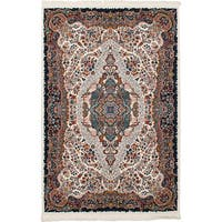 eCarpetGallery Persian Robot Woven Collection Tabriz Power-loomed Ivory/Multicolored Indoor Rectangular Rug - 4'11 x 7'5