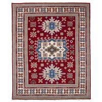 eCarpetGallery Hand-Knotted Royal Kazak Red  Wool Rug (8'2 x 9'11)