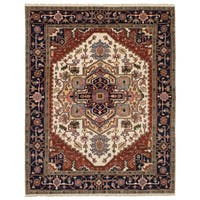 eCarpetGallery Hand-Knotted Serapi Heritage Brown, Ivory  Wool Rug (7'10 x 10'2)