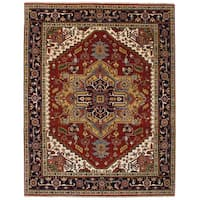 eCarpetGallery Hand-Knotted Serapi Heritage Red  Wool Rug (7'9 x 9'11)