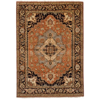 eCarpetGallery Hand-Knotted Serapi Heritage Brown  Wool Rug (6'1 x 8'10)