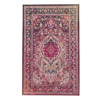 Copper Grove Sundarban Floral Traditional Distressed Area Rug - 8' x 10'