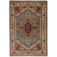 eCarpetGallery Hand-Knotted Serapi Heritage Green  Wool Rug (6'0 x 8'11)