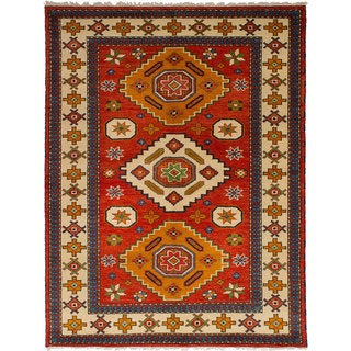 eCarpetGallery Hand-Knotted Royal Kazak Red Wool Rug (5'9 x 8'0)