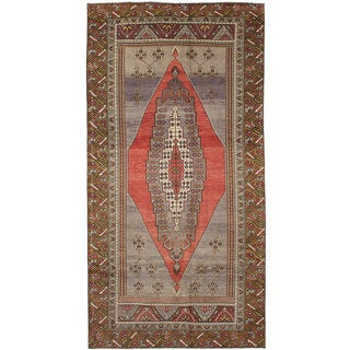 eCarpetGallery Hand-Knotted Anatolian Vintage Brown, Grey Wool Rug (5'8 x 11'6)