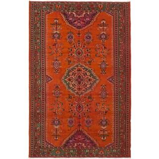 eCarpetGallery Hand-Knotted Melis Vintage Brown Wool Rug (5'8 x 9'2)