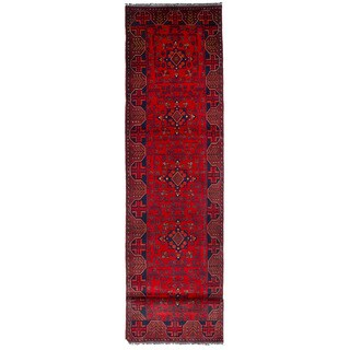 eCarpetGallery Hand-Knotted Finest Khal Mohammadi Red Wool Rug (2'5 x 12'6)