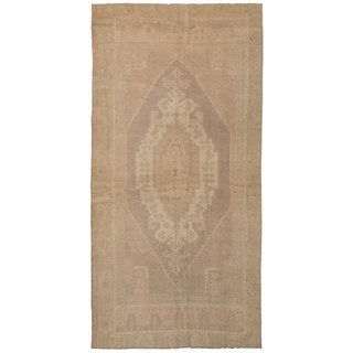 eCarpetGallery Hand-Knotted Antalya Vintage Grey, Ivory Wool Rug (4'2 x 8'4)
