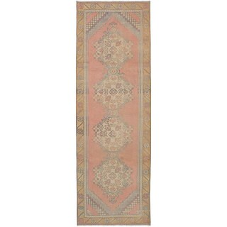 eCarpetGallery Hand-Knotted Anadol Vintage Brown Wool Rug (3'0 x 9'6)