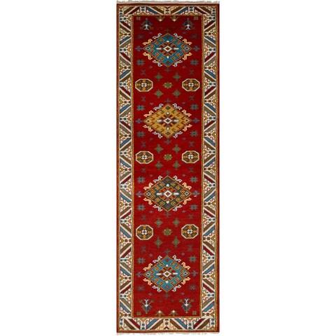 eCarpetGallery Hand-Knotted Royal Kazak Red Wool Rug (2'9 x 10'2)