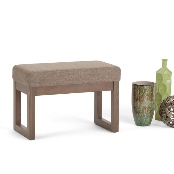 Shop Wyndenhall Madison Small Upholstered Ottoman Bench Footstool