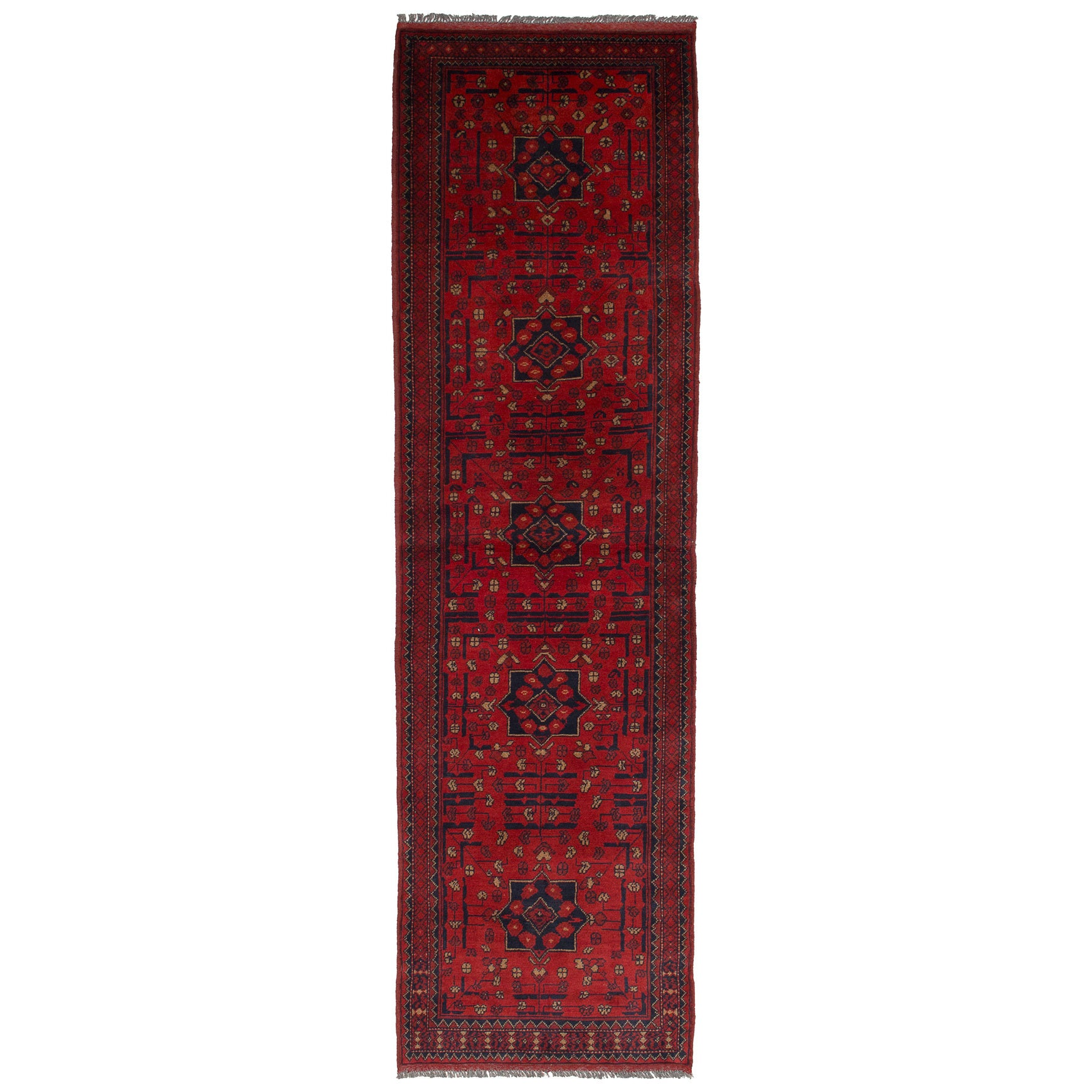 Ecarpetgallery Hand-Knotted Finest Khal Mohammadi Red Woo...