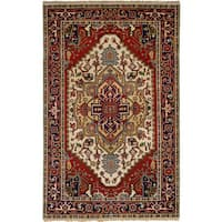 eCarpetGallery Hand-Knotted Serapi Heritage Red  Wool Rug (5'1 x 8'3)