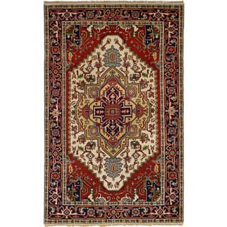 Ecarpetgallery Hand Knotted Serapi Heritage Red Wool Rug 5 1 X 8