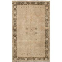 eCarpetGallery Hand-Knotted Antalya Vintage Ivory  Wool Rug (4'8 x 7'11)