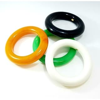 Kenneth Jay Lane Round Resin Bangle Bracelet|https://ak1.ostkcdn.com/images/products/18574332/P24677085.jpg?impolicy=medium