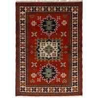 eCarpetGallery Hand-Knotted Royal Kazak Brown  Wool Rug (4'1 x 5'11)