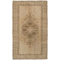 eCarpetGallery Hand-Knotted Antalya Vintage Ivory  Wool Rug (3'8 x 6'8)