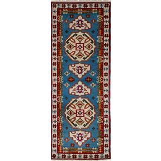 eCarpetGallery Hand-Knotted Royal Kazak Blue Wool Rug (2'10 x 8'2)
