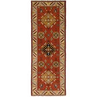 eCarpetGallery Hand-Knotted Royal Kazak Brown  Wool Rug (2'9 x 8'1)