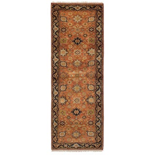 eCarpetGallery Hand-Knotted Serapi Heritage Orange Wool Rug (2'7 x 7'11)