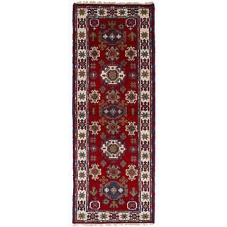 eCarpetGallery Hand-Knotted Royal Kazak Red Wool Rug (2'8 x 8'0)