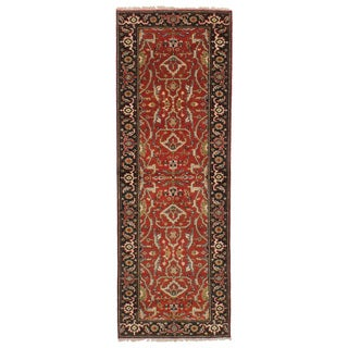 eCarpetGallery Hand-Knotted Serapi Heritage Red Wool Rug (2'6 x 7'9)