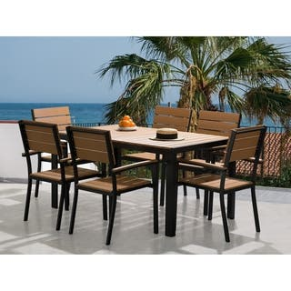 Resin Wood Patio Dining Set COMO|https://ak1.ostkcdn.com/images/products/18574433/P24677146.jpg?impolicy=medium