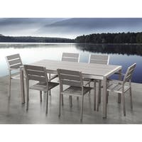 Aluminum Patio Dining Set Gray VERNIO