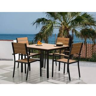 Resin Wood Patio Dining Set PRATO|https://ak1.ostkcdn.com/images/products/18574467/P24677153.jpg?impolicy=medium