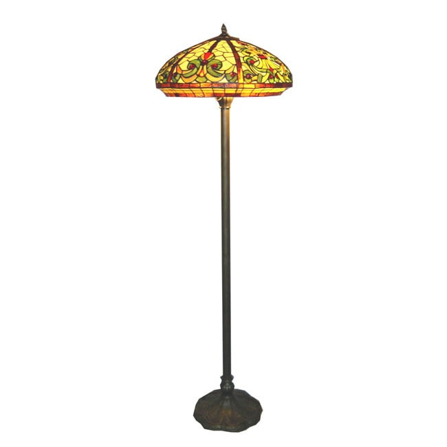 Tiffany style baroque floor lamp free shipping today for Overstock tiffany floor lamp