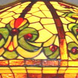 Tiffany-style Baroque Floor Lamp - Thumbnail 1