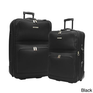 Traveler's Choice Voyager II 2-piece Checked Luggage Set