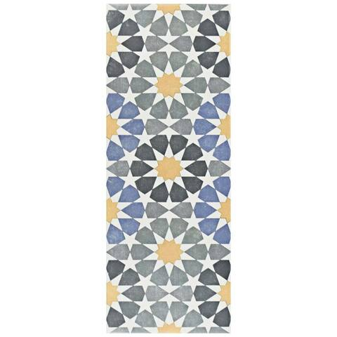 SomerTile 5.875x15.75-inch Margot Star Ceramic Floor and Wall Tile