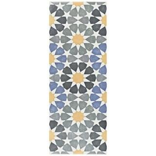 SomerTile 5.875x15.75-inch Margot Star Ceramic Floor and Wall Tile (16 tiles/10.89 sqft.)