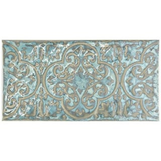 SomerTile 4.375x8.75-inch Caravaggio Esmeralda Ceramic Wall Tile (26 tiles/7.52 sqft.)