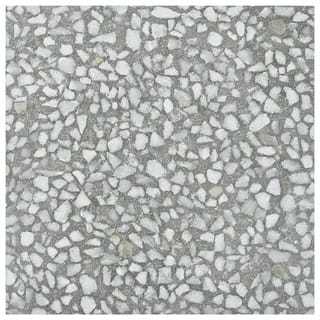 SomerTile 11.5x11.5-inch Piacenza Amalfi Grafito Porcelain Floor and Wall Tile (11/Case, 10.55 sqft.)|https://ak1.ostkcdn.com/images/products/18581649/P24677261.jpg?impolicy=medium