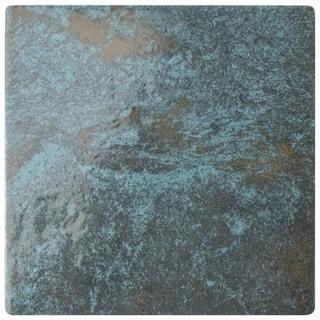 Somertile 6x6 Inch Oceano Green River Porcelain Floor And Wall Tile 33 Tiles
