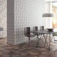 SomerTile 6x6-inch Panama Blanco Ceramic Wall Tile (22 tiles/5.97 sqft.)